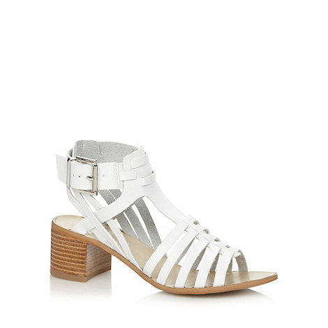 Faith - White multi strap mid sandals