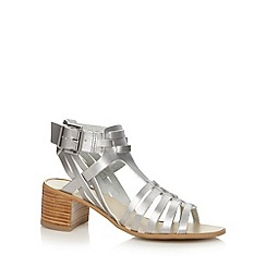 Faith - Silver multi strap mid sandals
