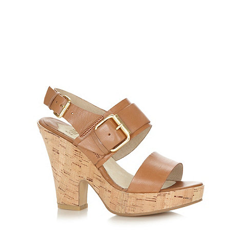 Faith - Tan wide strap high sandals