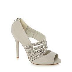 Faith - Light grey gem studded court shoes