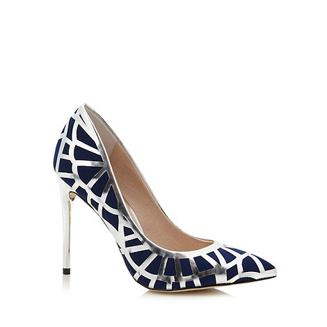 Faith - Navy two tone panel high court shoes