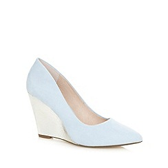 Faith - Sky blue suede wedge courts