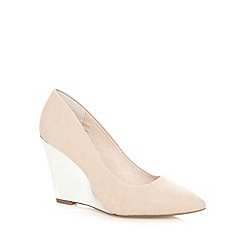 Faith - Natural suede wedge courts