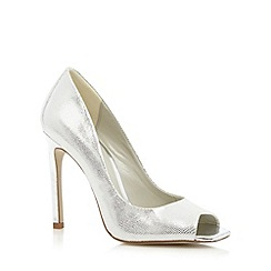 Faith - Silver textured high court shoes