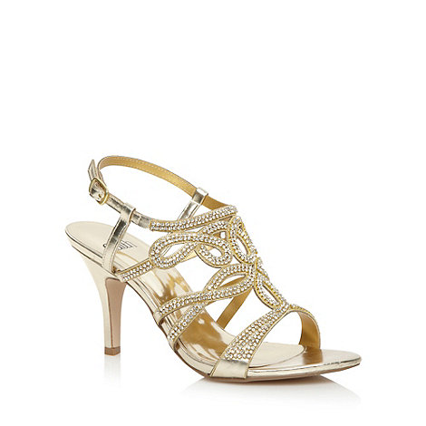 Faith - Gold pave strap high sandals