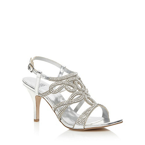 Faith - Silver pave strap high sandals