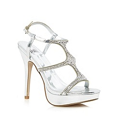Faith - Silver jewelled strap high heeled sandals