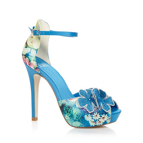 Faith - Blue flower front high sandals