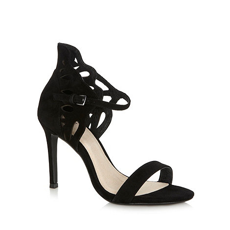 Faith - Black suede cutout high sandals