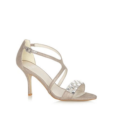 Faith - Pewter metallic embellished high sandals