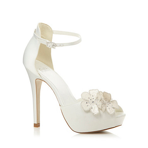 Faith - Ivory flower high platform sandals