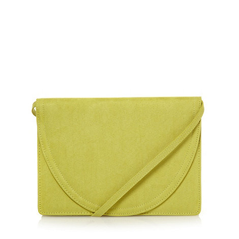 Faith - Lime curved flap over clutch bag
