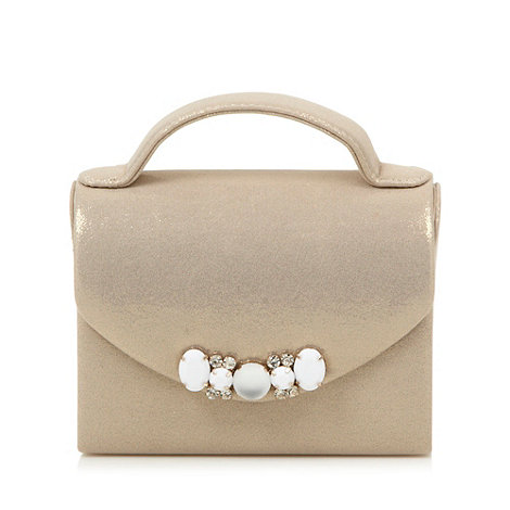 Faith - Gold gem stone embellished clutch bag