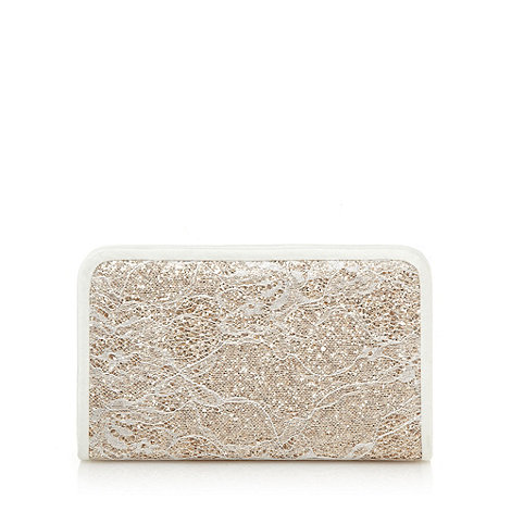 Faith - Cream lace clutch bag