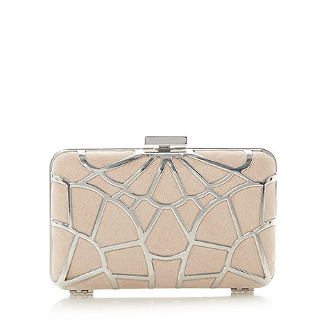 Faith - Blush and metallic hard case clutch