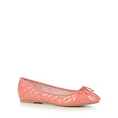 Faith - Coral quilted patent pumps