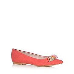 Faith - Coral suedette slip on shoes