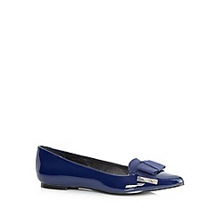 Faith - Navy patent pointed bow pumps