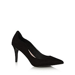 Faith - Black curved side high court shoes