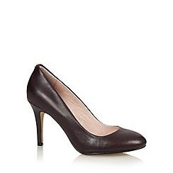Faith - Plum leather high court shoes