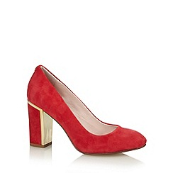 Faith - Red suede trim high court shoes
