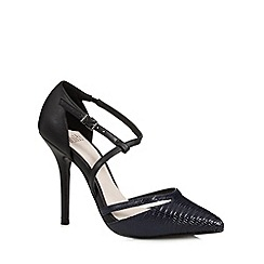Faith - Navy patent faux lizard high court shoes