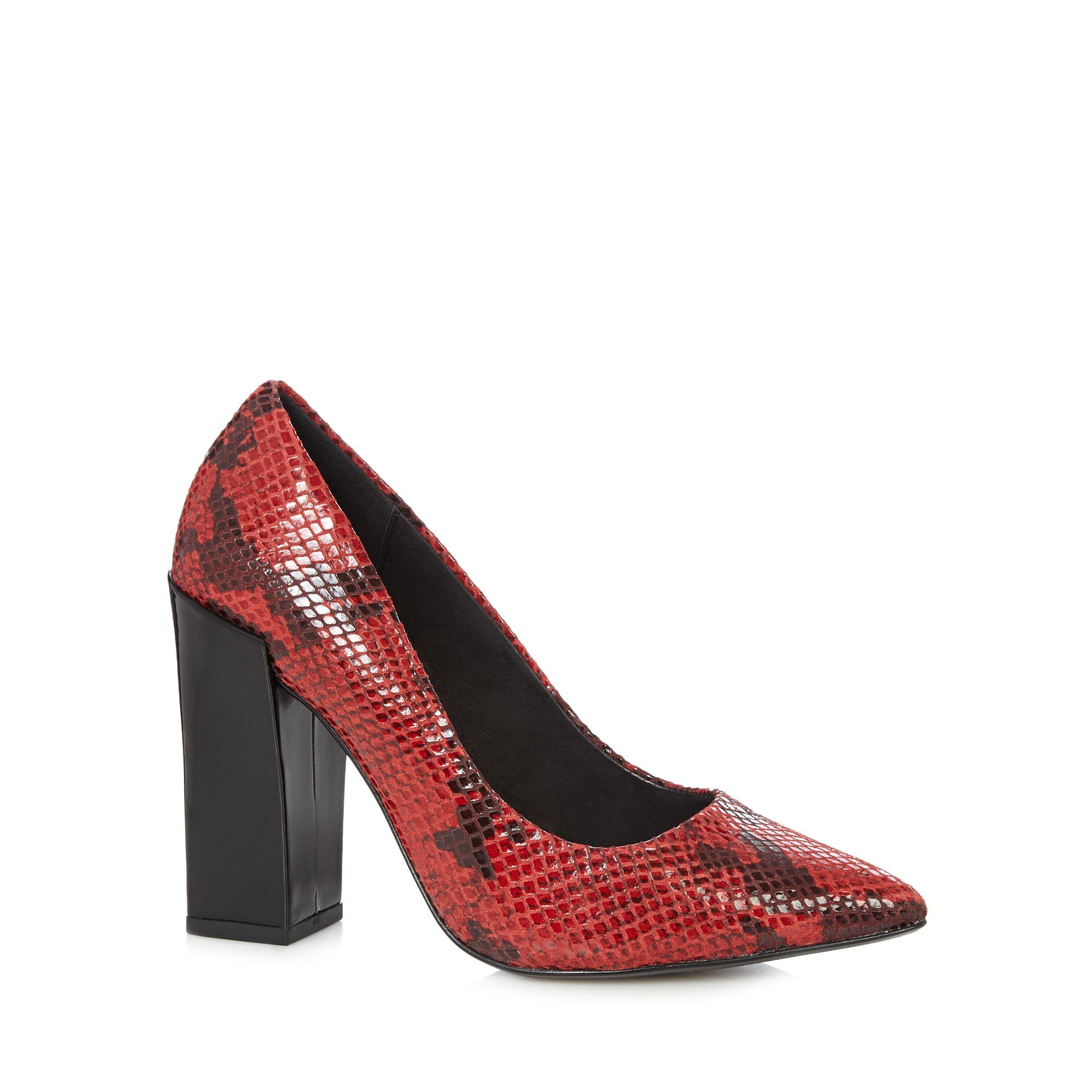 Debenhams Red Court Shoes