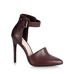 Faith - Maroon leather ankle cuff high court shoes