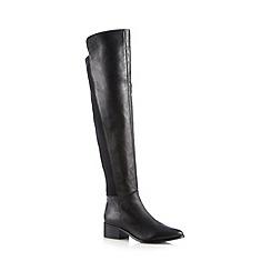 Faith - Black over the knee mid heel boots