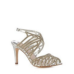 Faith - Silver diamante strap high sandals