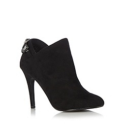 Faith - Black jewel detail high shoe boots