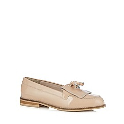 Faith - Natural patent fringe slip on shoes