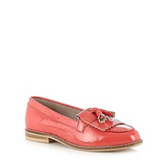 Faith - Bright coral patent leather loafers