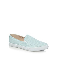 Faith - Pale green snakeskin effect slip on shoes