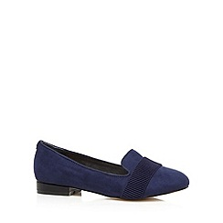 Faith - Navy ribbed front pumps
