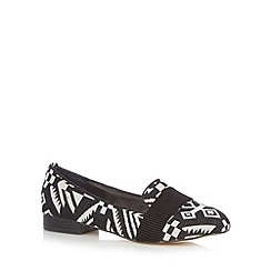 Faith - Black aztec jacquard pumps