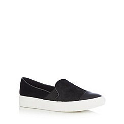 Faith - Black pony hair slip on shoes