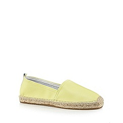 Faith - Yellow leather espadrilles