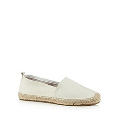 Faith - Cream leather espadrilles