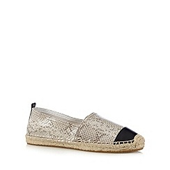 Faith - Natural mock snake leather espadrilles