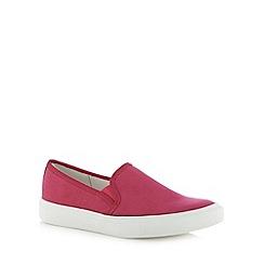 Faith - Light pink plain slip on shoes