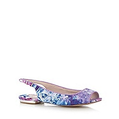 Faith - Lilac floral peep toe sandals