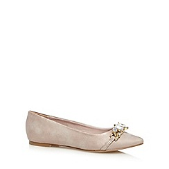 Faith - Pink jewel embellished pump shoes
