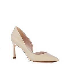 Faith - Natural leather stiletto heel pointed toe court shoe