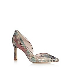 Faith - Green mock snake skin stiletto heel court shoe