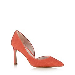 Faith - Coral suede cut out mid court shoes