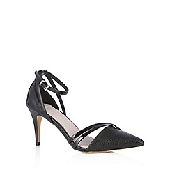 Faith - Black textured high sandals