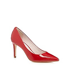 Faith - Red patent high stiletto court shoes