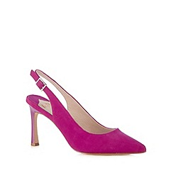 Faith - Dark pink pointed toe slingback high court shoes