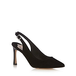 Faith - Black pointed toe slingback high court shoes